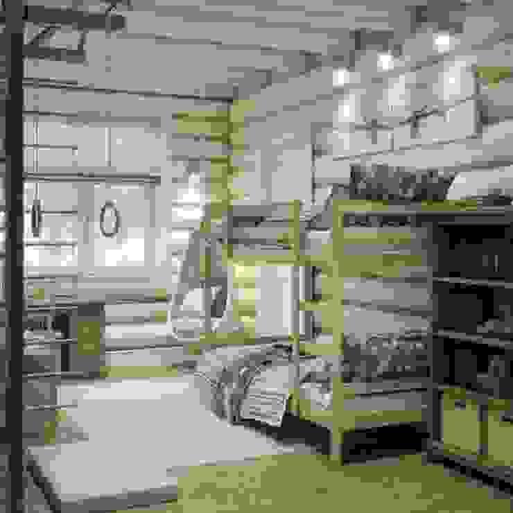 Дизайн интерьера дома в п.Зеленое Детская комнатa в рустикальном стиле от MJMarchdesign Рустикальный