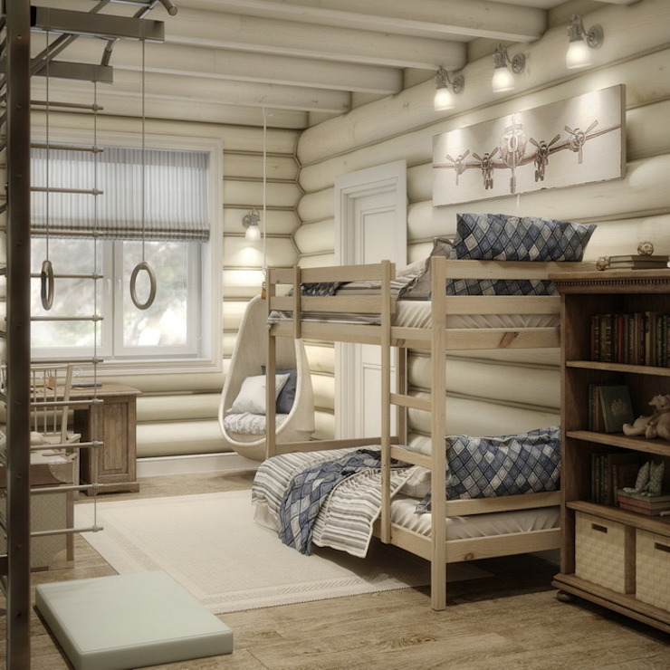 MJMarchdesign Rustic style nursery/kids room