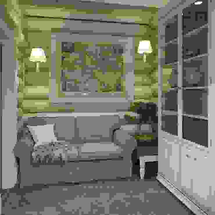 Дизайн интерьера дома в п.Зеленое Рабочий кабинет в рустикальном стиле от MJMarchdesign Рустикальный