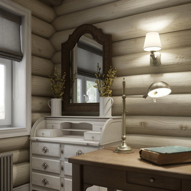 MJMarchdesign Rustic style study/office