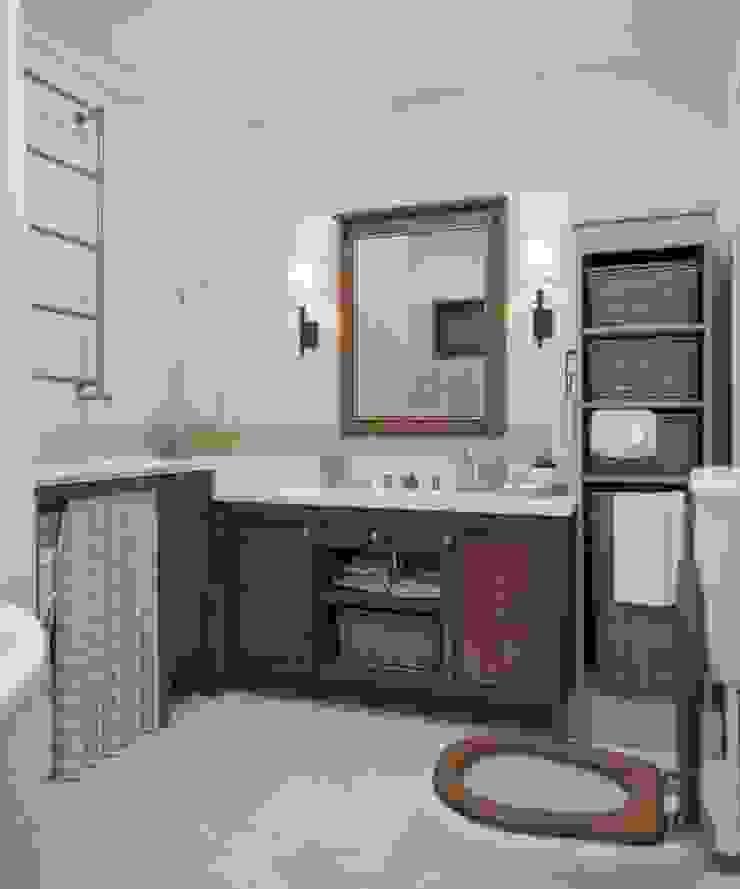 Дизайн интерьера дома в п.Зеленое Ванная комната в рустикальном стиле от MJMarchdesign Рустикальный