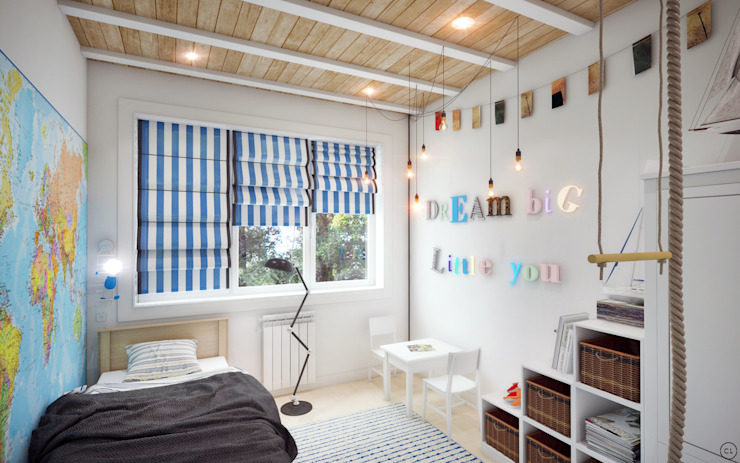 Nursery/kid's room by Circle Line Interiors, Scandinavian