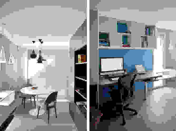 Modern Study Room and Home Office by Marion Lanoë Architecte d'Intérieur Modern