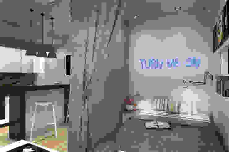 Спальня Спальня в стиле лофт от Дизайн-студия HOLZLAB Лофт