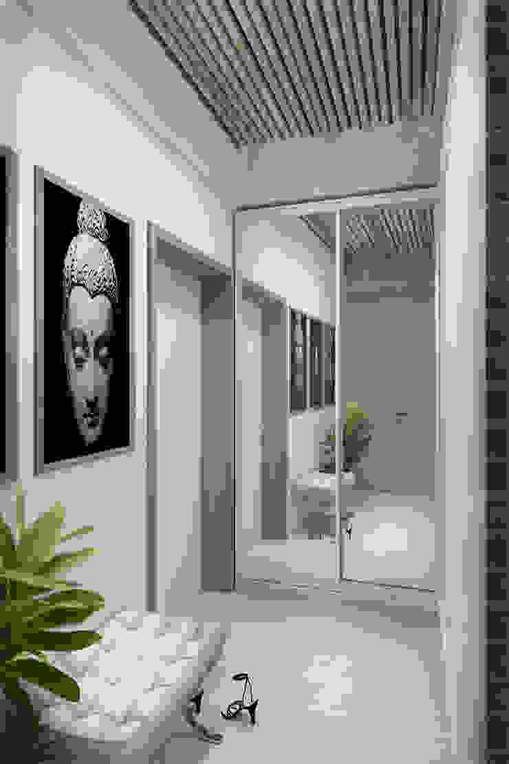 Декор на стенах и потолке Коридор, прихожая и лестница в стиле лофт от Дизайн-студия HOLZLAB Лофт