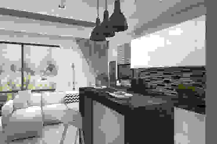 Гостиная, совмещенная с кухней Кухня в стиле лофт от Дизайн-студия HOLZLAB Лофт