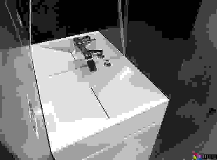 Umywalka z odpływem liniowym Nowoczesna łazienka od Luxum Nowoczesny
