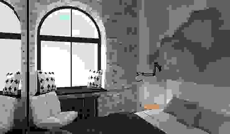 Industrial style bedroom by Дизайн-студия HOLZLAB Industrial