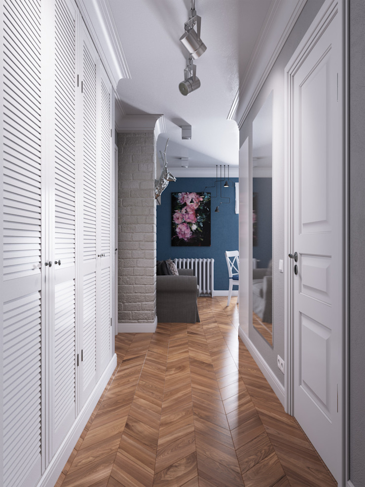 Alibegova Коридор, прихожая и лестница в скандинавском стиле от Anastasiya Ivanchuk Скандинавский
