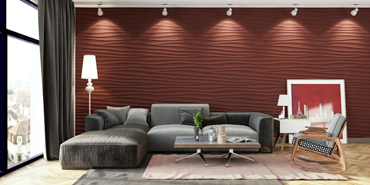 Silk Teracota Salones de estilo moderno de Artur Akopov Moderno