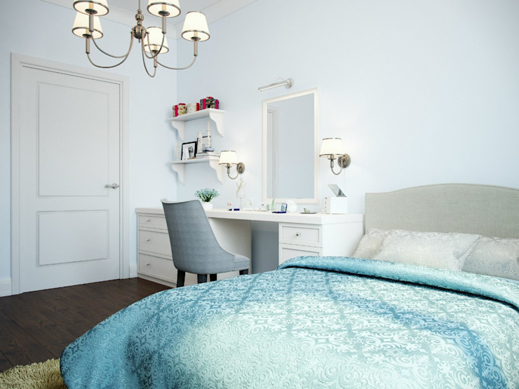 Дизайн интерьера коттеджа в неоклассическом стиле Спальня в классическом стиле от дизайн интерьера DiV Классический