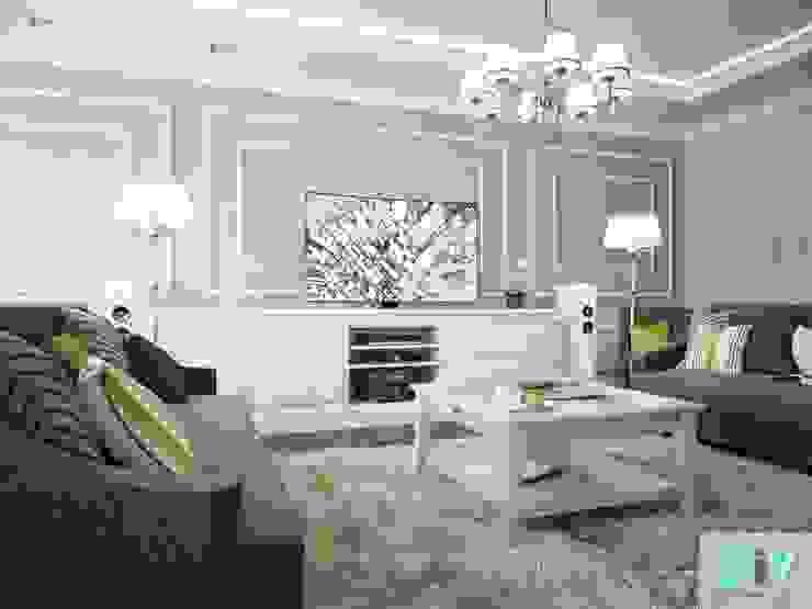 Дизайн интерьера коттеджа в неоклассическом стиле Гостиная в классическом стиле от дизайн интерьера DiV Классический