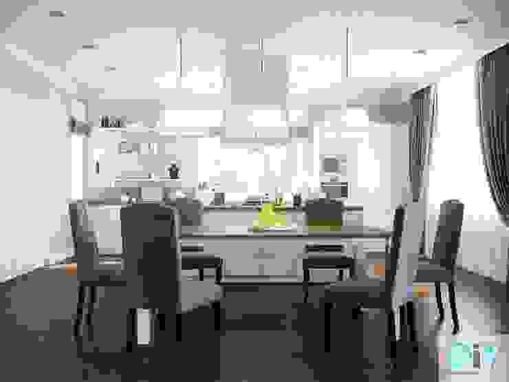 Дизайн интерьера коттеджа в неоклассическом стиле Столовая комната в классическом стиле от дизайн интерьера DiV Классический