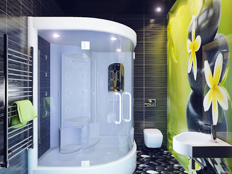 Eclectic style bathrooms by Ольга Рыбалка Eclectic