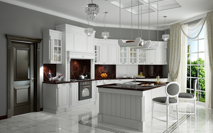 Classic style kitchen by Мастерская дизайна INDIZZ Classic
