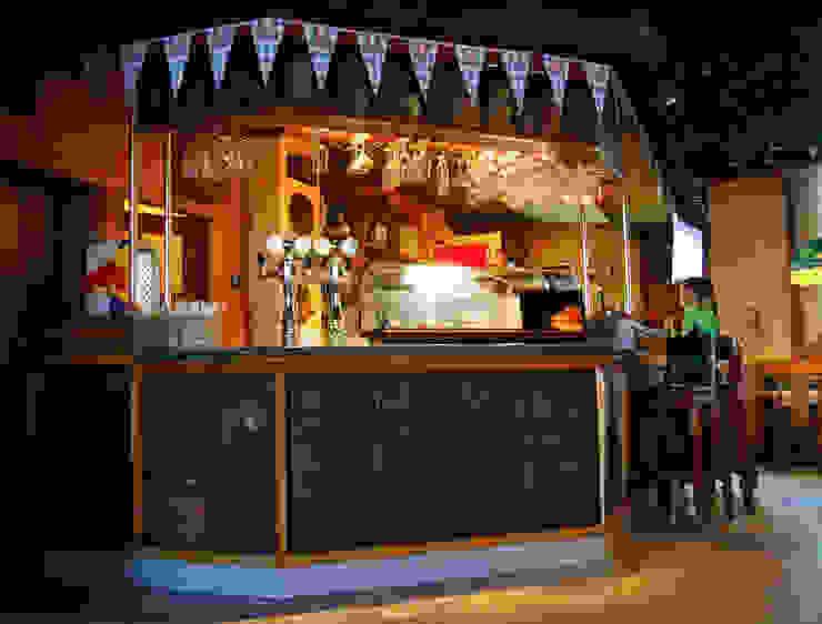 Роспись барной стойки в ресторане <q>Сова</q> Винный погреб в рустикальном стиле от Sergei Zyrianov Рустикальный