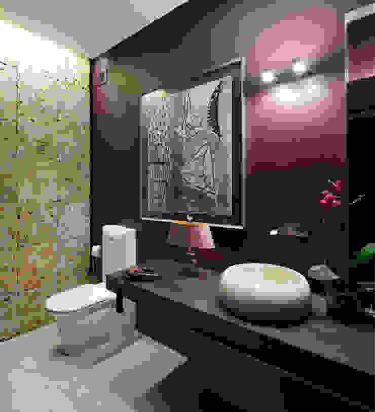 Загородный дом Подмосковье Ванная комната в эклектичном стиле от Анахина Эклектичный