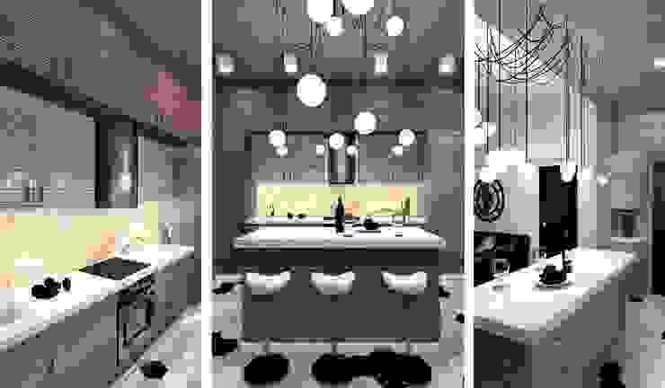 Industrial style kitchen by Дизайн-студия HOLZLAB Industrial