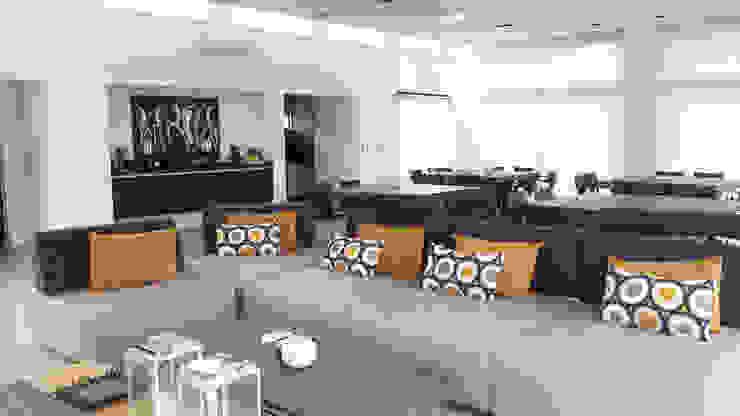 Salle multimédia moderne par de Jauregui Salas arquitectos Moderne