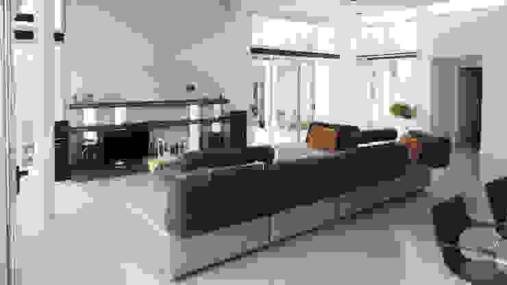 Salas multimedia de estilo moderno de de Jauregui Salas arquitectos Moderno