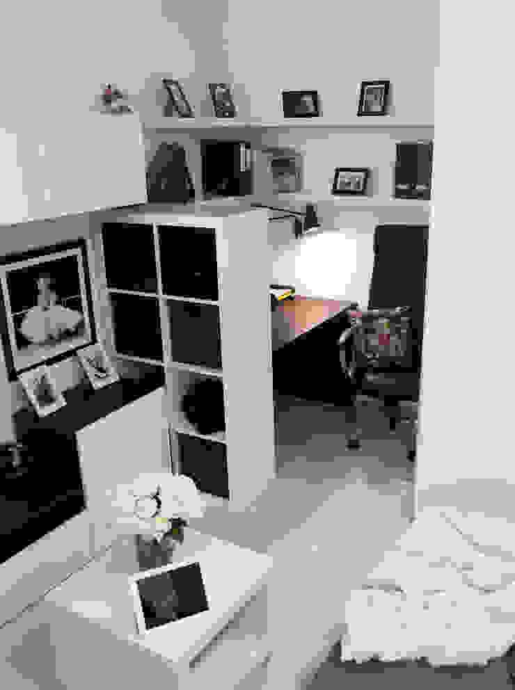 Интерьер в белом Гостиная в скандинавском стиле от NDubchenko Скандинавский