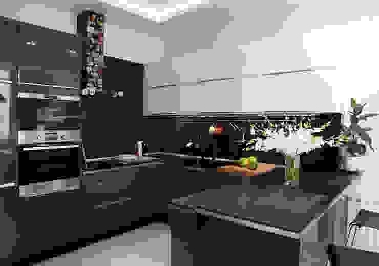 Интерьер в белом Кухня в скандинавском стиле от NDubchenko Скандинавский