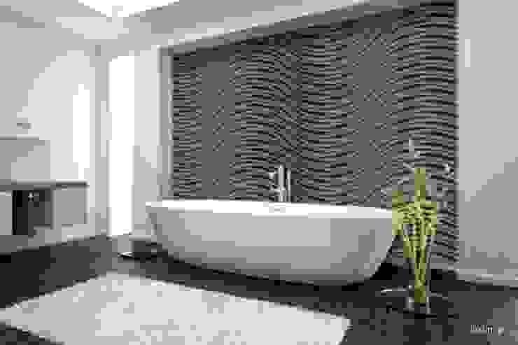 Nowoczesne panele 3D Nowoczesna łazienka od Luxum Nowoczesny
