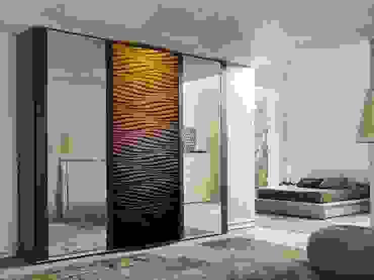 Panele 3D jako fronty meblowe: styl , w kategorii Garderoba zaprojektowany przez Luxum,