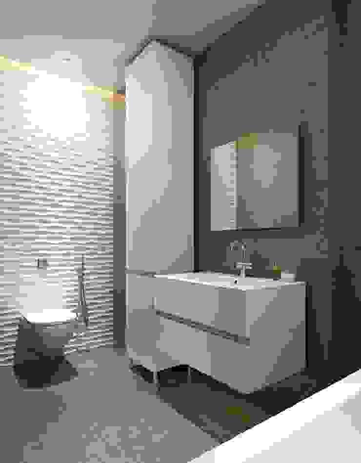 Panele MDF 3D w łazience Nowoczesna łazienka od Luxum Nowoczesny