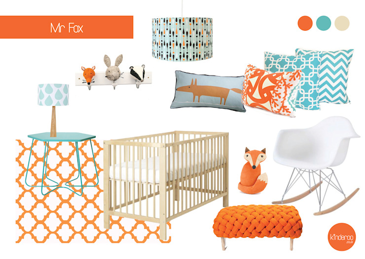 Mr Fox nursery Chambre d'enfant originale par Kinderoo Childrens Interiors Éclectique