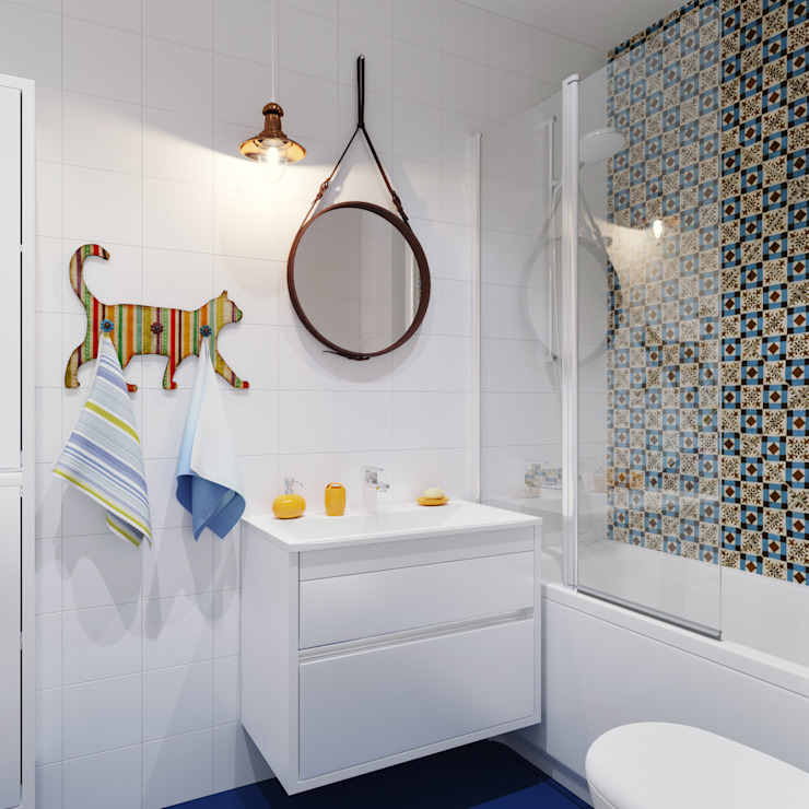 Eclectic style bathroom by Оксана Мухина Eclectic