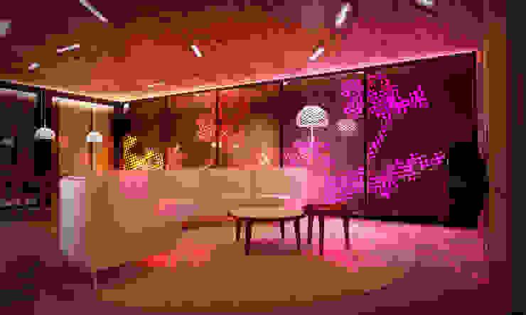 Casa Extremadura Salones de estilo rural de Estudio de Arquitectura Teresa Sapey Rural