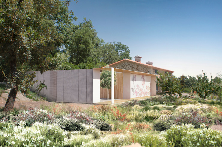 Дома в стиле кантри от Estudio de Arquitectura Teresa Sapey Кантри