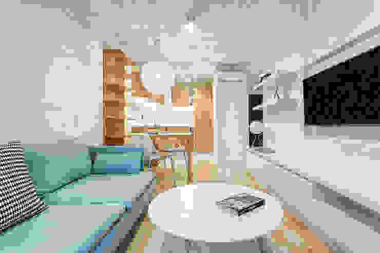 Nadwiślańska 11 - 37m2: styl , w kategorii Salon zaprojektowany przez UNQO,