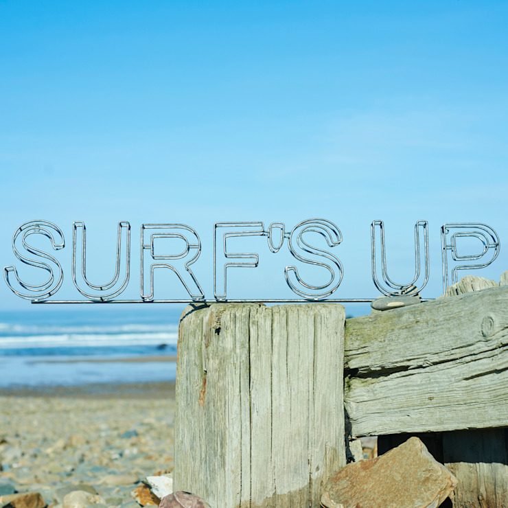 Metal Beach and Surf's up signs brush64 Oturma OdasıAksesuarlar & Dekorasyon