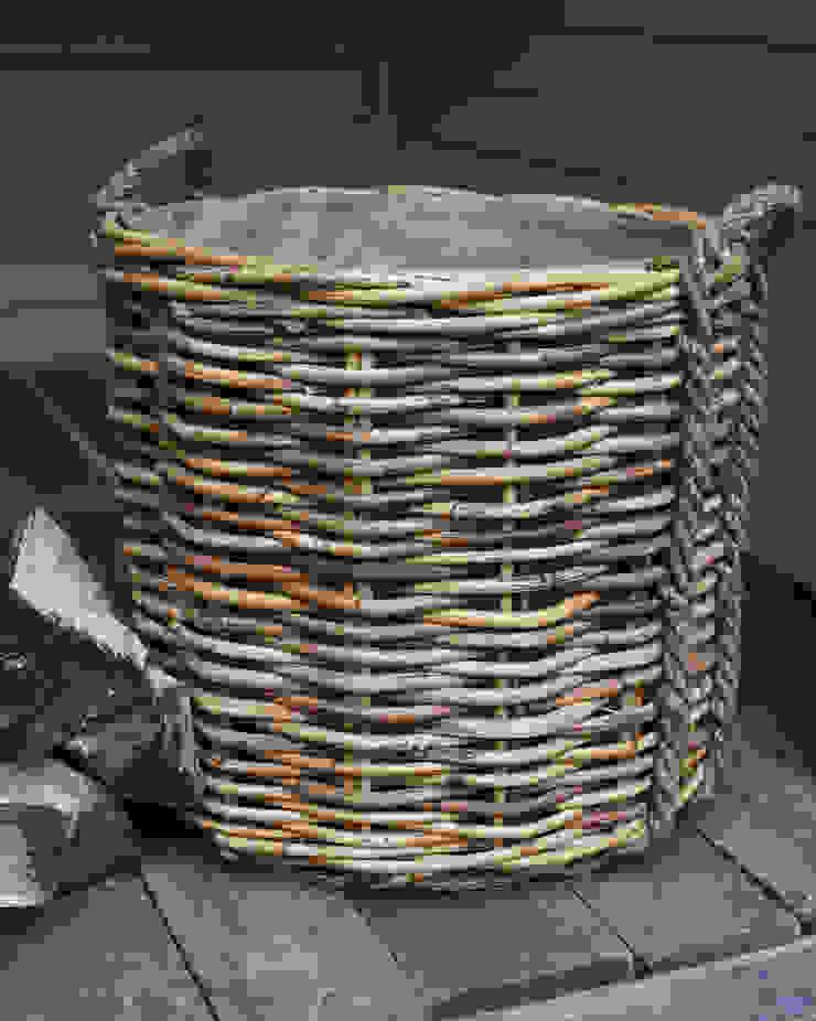 very large rattan log baskets- rope handles brush64 Oturma OdasıŞömine & Aksesuarları