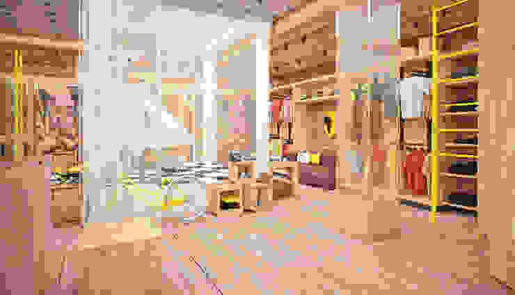 Проект интерьера бутика <q>Street style</q> Офисы и магазины в стиле лофт от Александра Мовчан Лофт