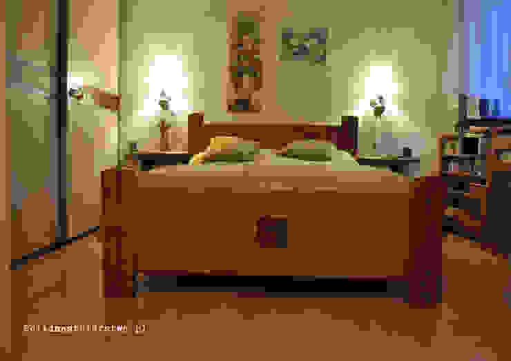 Widok łoża sypialnianego z drewna od Zakład Stolarski Robert Latawiec Rustykalny