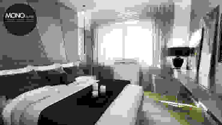 Elegancki, przestronny i nowoczesny dom pod Krakowem. Nowoczesna sypialnia od MONOstudio Nowoczesny