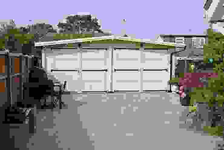 https://www.quick-garden.co.uk/wooden-garages-aluminum-carports/wooden-garage-600x600-double-44mm-36m.html Taman Klasik Oleh Quick garden LTD Klasik