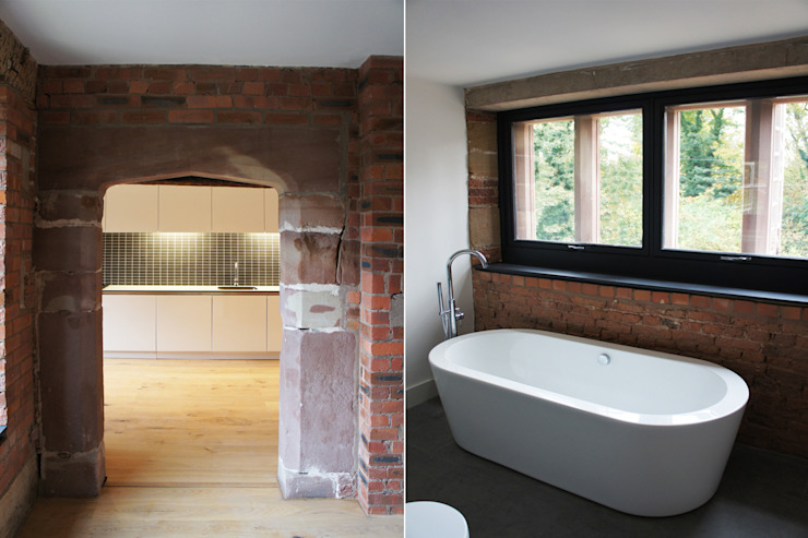 Bewsey Old Hall Modern bathroom by Pearson Architects Modern