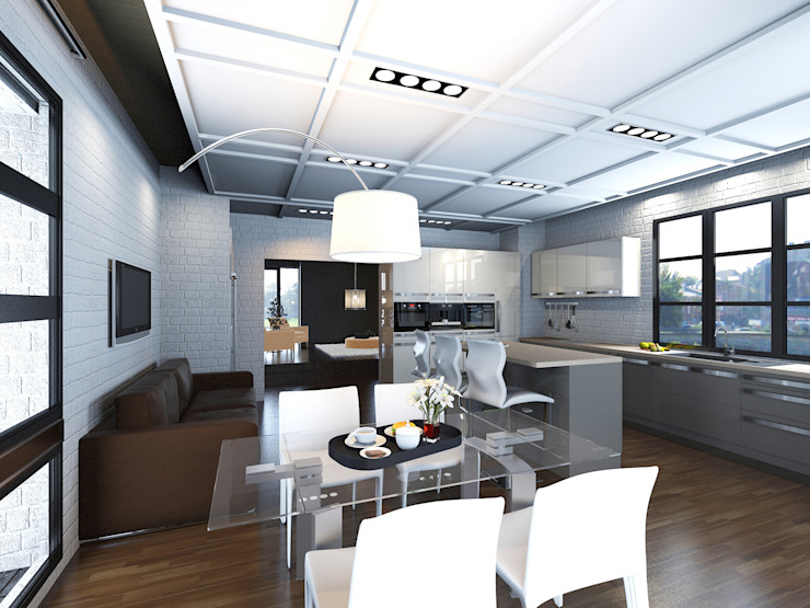 Иллюзия лофта Кухня в стиле лофт от DARIA_MEZENTSEVA Лофт