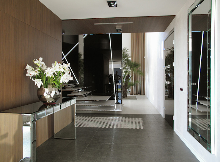 Коридор, прихожая и лестница в модерн стиле от MACIEJ JANECZEK ARCHITEKT Модерн