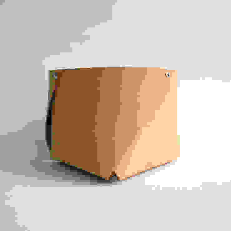 naturel tanned leather container West medium, ROWOLD van ROWOLD Minimalistisch