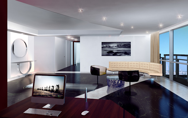 Офис Офисные помещения в стиле модерн от Лаборатория дизайна интерьера Модерн