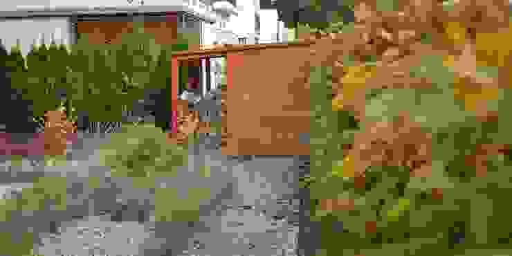 drewniany schowek od Autorska Pracownia Architektury Krajobrazu Jardin Nowoczesny