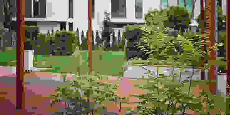 widok z tarasu od Autorska Pracownia Architektury Krajobrazu Jardin Nowoczesny