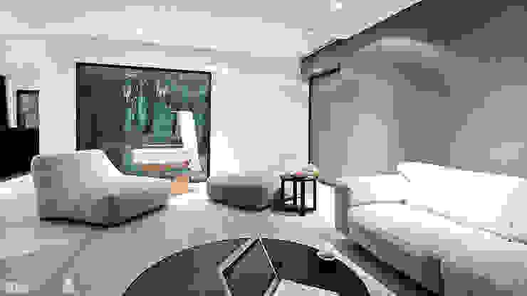 M – house Nowoczesny salon od zwA Architekci Nowoczesny