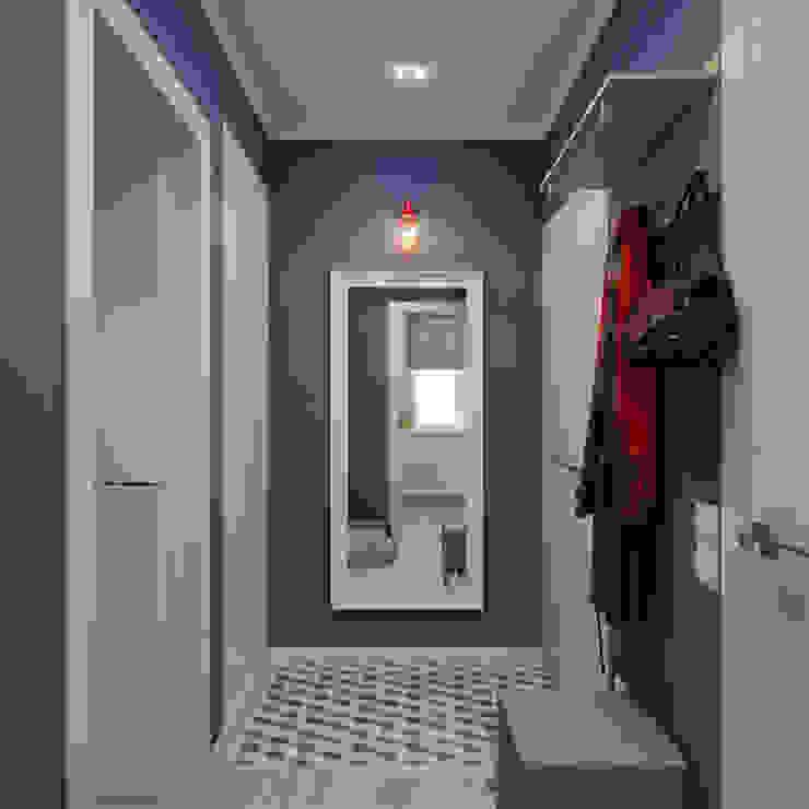 Квартира для молодой девушки Коридор, прихожая и лестница в скандинавском стиле от Ekaterina Donde Design Скандинавский