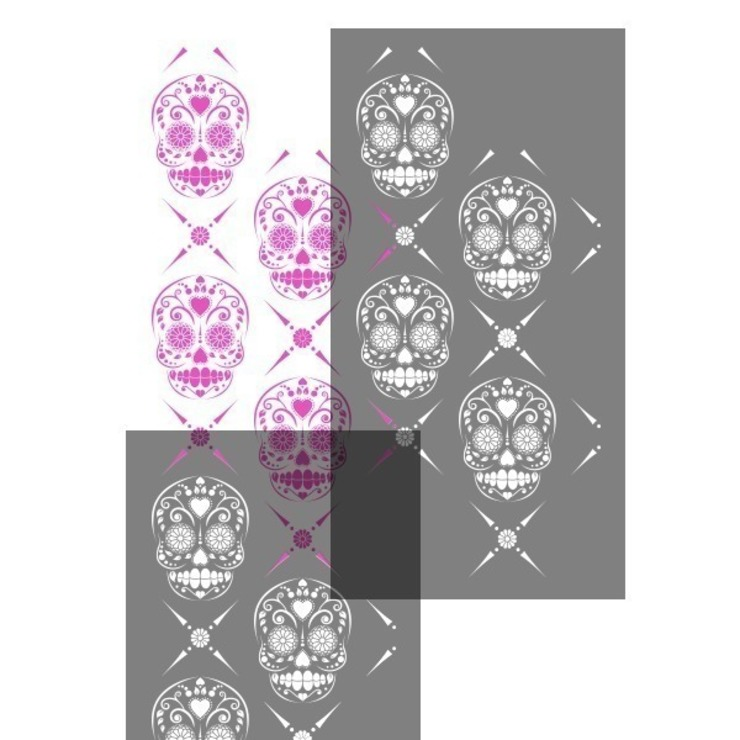 Candy Skull Repeat de Stencil Up Moderno